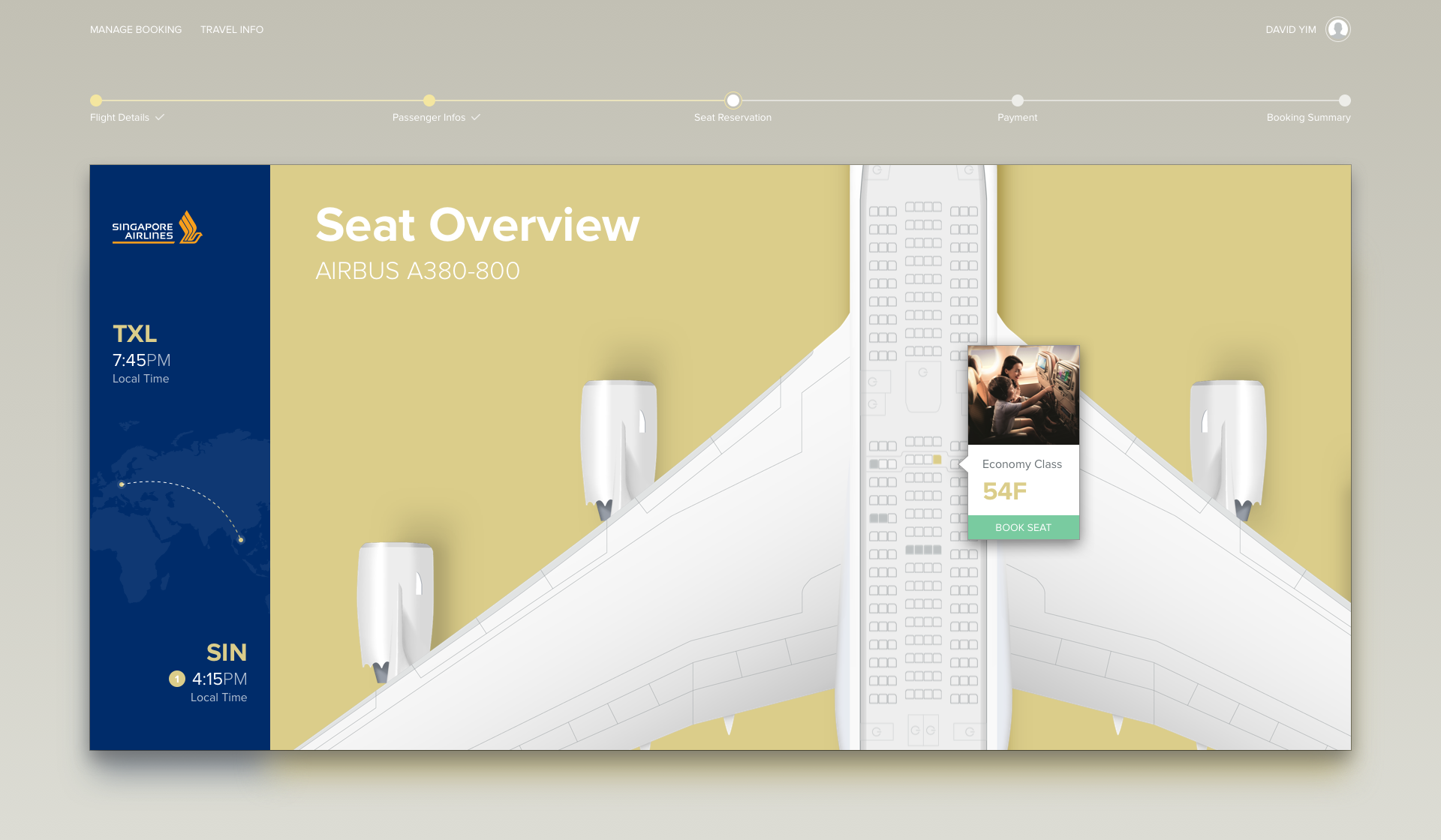 manage flight booking